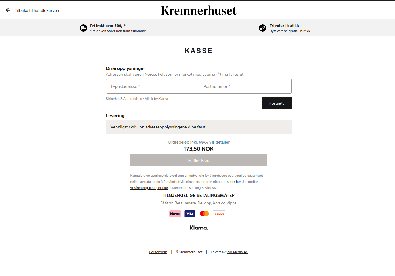 Klarna Checkout preview
